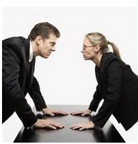 man and women arguing